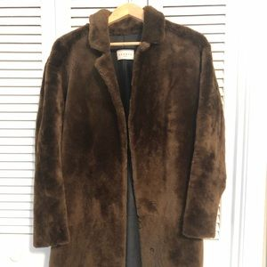 Sandro sheep shearling coat in excellent condition